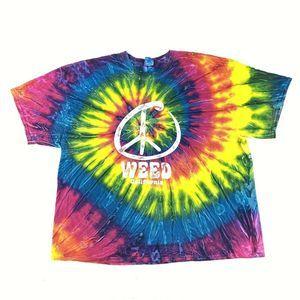 Weed California 420 Tie Dye T-Shirt Men's Size 2XL